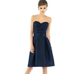 Formal blue strapless dress